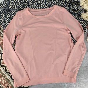 Lululemon Run Swiftly Long Sleeve Pink Shirt